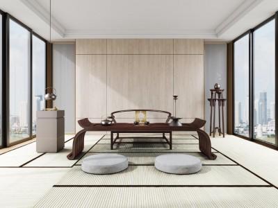 舒雨YS2060禪室案幾香幾圈椅